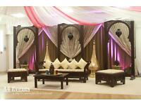 Chocolate Fountain-chair covers-wedding stage-decorations-centre piece-walkway pillars-candy floss