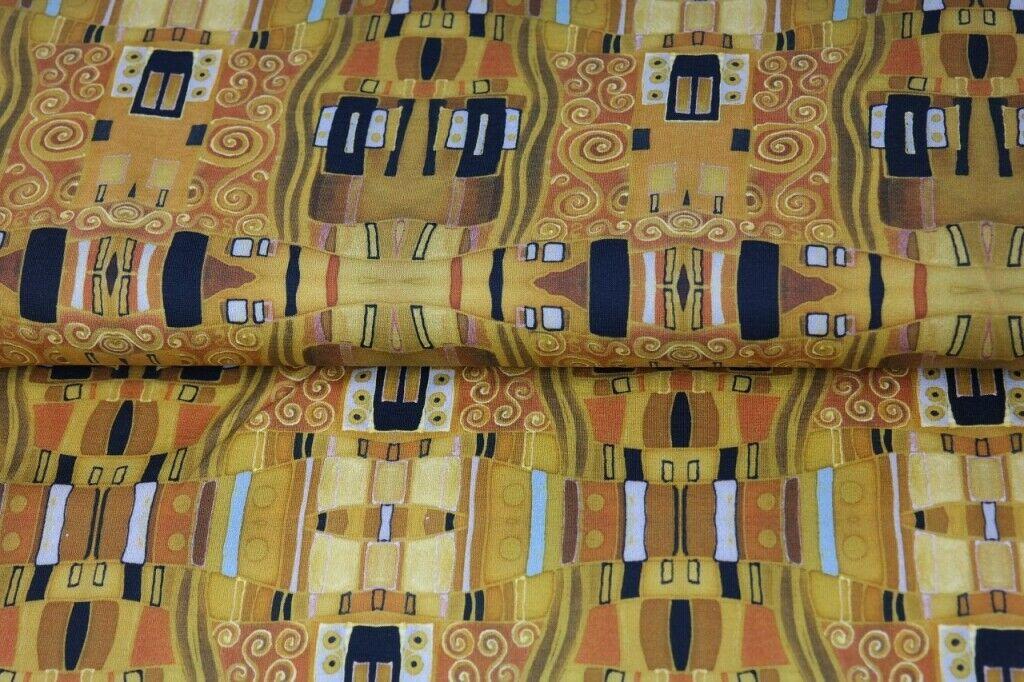 Jersey Kombistoff Klimt Jugendstil Ranken 50 x 150 cm