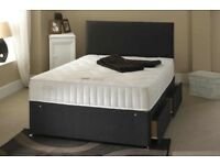 POCKET SPRUNG SET- BRAND NEW DOUBLE / KING DIVAN BED BASE WITH 1000 POCKET SPRUNG MATTRESS