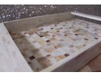 *NEW* Mother Of Pearl Mosaic Serving Tray *handcrafted in Vietnam* - HOUSE CLEARANCE SALE