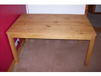 Oak dining table 150 cm with 2 extension leafs