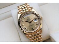 Mens Date Day Watch 40MM President Champagne