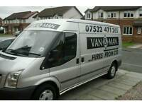 Van and man from 20 pound sofa bed fridges etc **