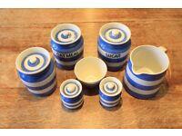 iconic Cornishware pottery.