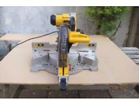 "DeWalt 717XPS 250mm (10"") Double Bevel Mitre Saw/Chop Saw 110v - VGC"
