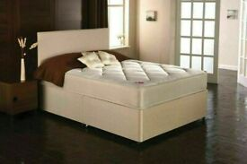 🔵💖🔴BRAND NEW🔵💖🔴LUXURY DIVAN BED & MATTRESS & HEADBOARD COMPLETE SET!(WHITE DAMASK)