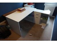 FREE FURNITURE: Large desk with storage