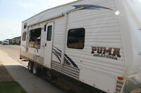 2011 - 27' Forest River Puma Toy Hauler - Sleeps 8
