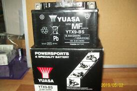 yuasa ytx9bs motorcycle battery new