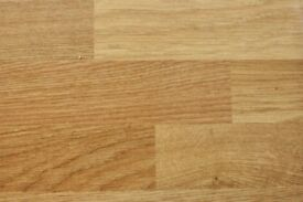 Two Oak Block Effect Laminated Kitchen Worktops
