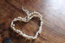 8 Beaded hearts used for wedding decoration