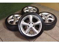 Mercedes C Class 17 inch Alloy Wheels Adharaz **Good condition**