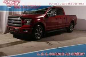 2016 Ford F-150 Lariat 501A AWD 4X4 CUIR NAV+CAM TOIT MAGS 20