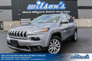 2016 Jeep Cherokee LIMITED 4WD! LEATHER! NAVIGATION! PANORAMIC S