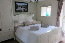 One bedroom flat/cottage in private location in Peebles