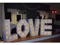 Giant Wedding Light up Letters Love