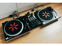 ION Turntables and Mixer, great DJ starter kit