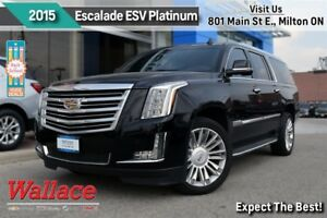 2015 Cadillac Escalade ESV PLATINUM/LOADED!/1-OWNER/CLN HSTRY/DV