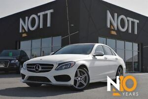 2015 Mercedes-Benz C-Class C400 4MATIC, One Owner, Nav, Pano Roo