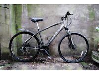 CARRERA CROSSFIRE. 19 inch, 48.5 cm. Hybrid road bike, aluminium frame, disk brakes, 24 speed