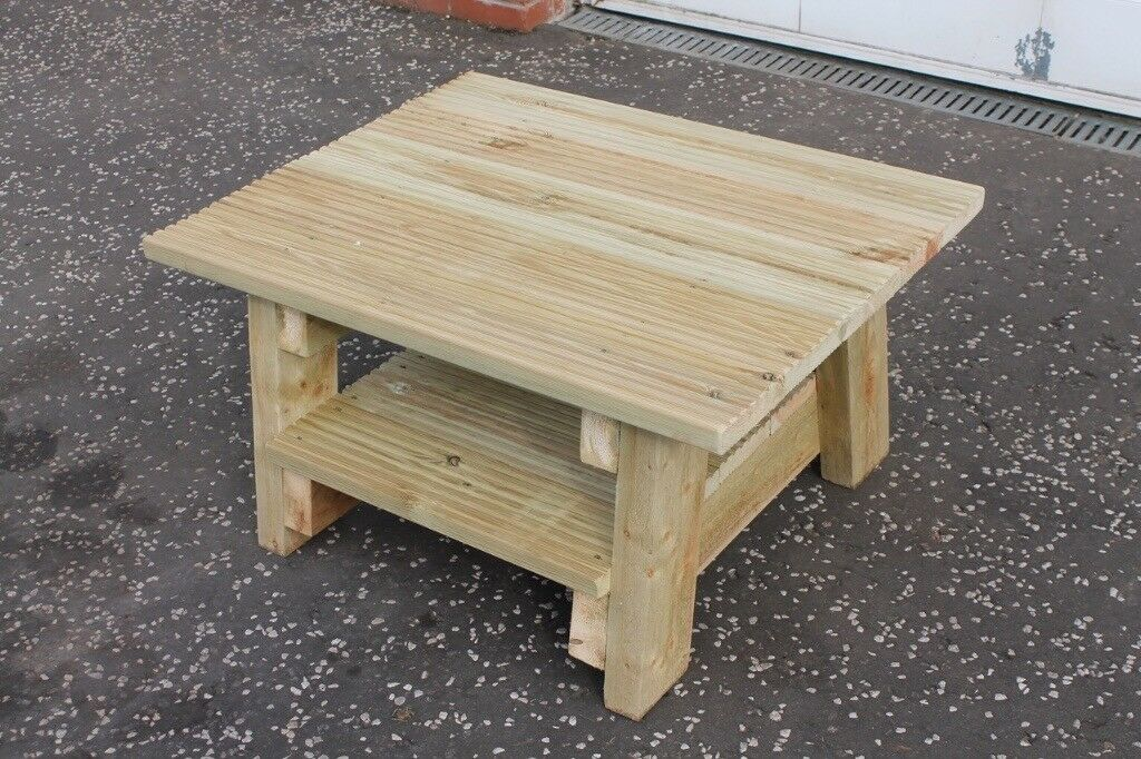 New Handmade Furniture Built To Order Garden Patio Coffee Table