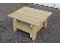 NEW HANDMADE FURNITURE BUILT TO ORDER GARDEN/PATIO COFFEE TABLE