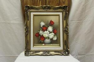 Painting on Canvas of  White and Red Rose Kingston Kingston Area image 1