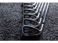 Excellent Mizuno JPX 800 Irons set, left handed, 4-GW (8 clubs) + Free SW and LW (10 clubs total)