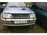 mitsubishi warrior l 200 mot spares or repair