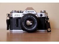 Canon AE1 + 50mm film camera - mint condition