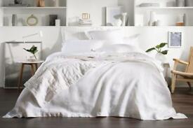 BRAND NEW – Sheridan Abbotsen white linen bedding - worth £104