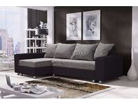 Corner sofa bed sofa bed UK STOCK 1-5 DAY DELIVERY (Grey/Brown)-(Black)