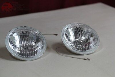 Clear Lens Fog Lamp Light Replacement Bulbs Vintage Style 12 Volt Hot Rod Truck