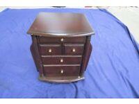 Scotts of Stow Mahogany Magazine Storage Table, 5 Drawers, Castors