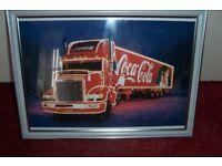 coca cola truck framed print ex con