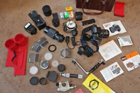 Pentax camera SLR SFXn with lots of extras inc cokin filters and Carl Zeiss lens