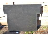 Stone Log & Gas & Electric Fireplace Hearth Set USED