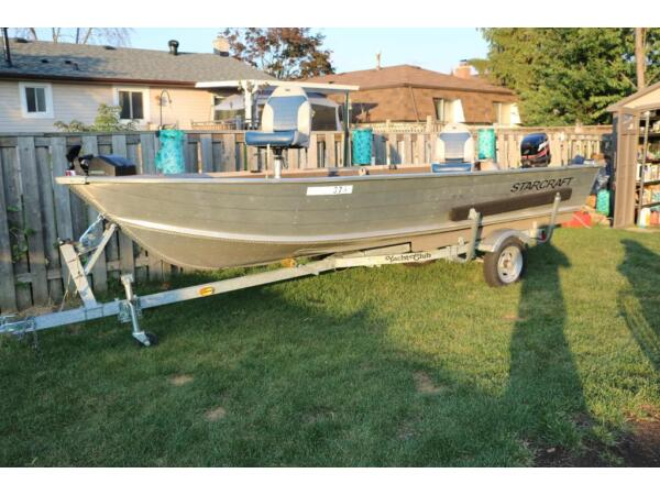 Used 2008 Starcraft 2008 Starcraft 16.2 FT boat , trailer and 25 hp mo
