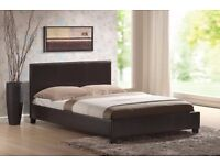BRAND NEW Faux Leather Slatted Base Bed frame & type of Mattresses+same day delivery