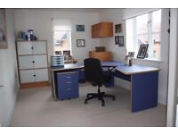 Home office furniture suite including chair.
