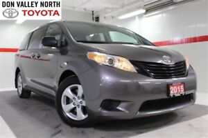 2015 Toyota Sienna 7 PASS V6 Btooth BU Cam Pwr Wndws Mirrs Locks