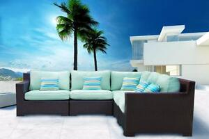 FREE Delivery in Victoria! Outdoor Patio Wicker Sunbrella Sectional Sofa by Cieux!  Brand New!