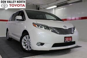 2016 Toyota Sienna Sunroof Nav DVD Heated Lthr Btooth BU Camera