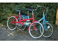 A pair of shopper bicycles