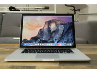 Macbook Pro with 15 inch retina display