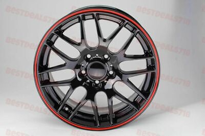 "18"" STAGGERED RED LIP M3 CSL STYLE RIMS WHEELS FITS BMW 3 SERIES 328 335 330 323"