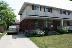 Large 3 bedroom semi with garage for rent