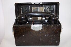 Vintage Military Field Mobile Phone Eastern European Army Forces Bakelite Box