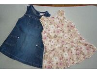Denim and corduroy dresses 12- 18 month