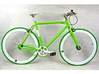 Brand new NOLOGO Aluminium single speed fixed gear fixie bike/ road bike/ bicycles 8h